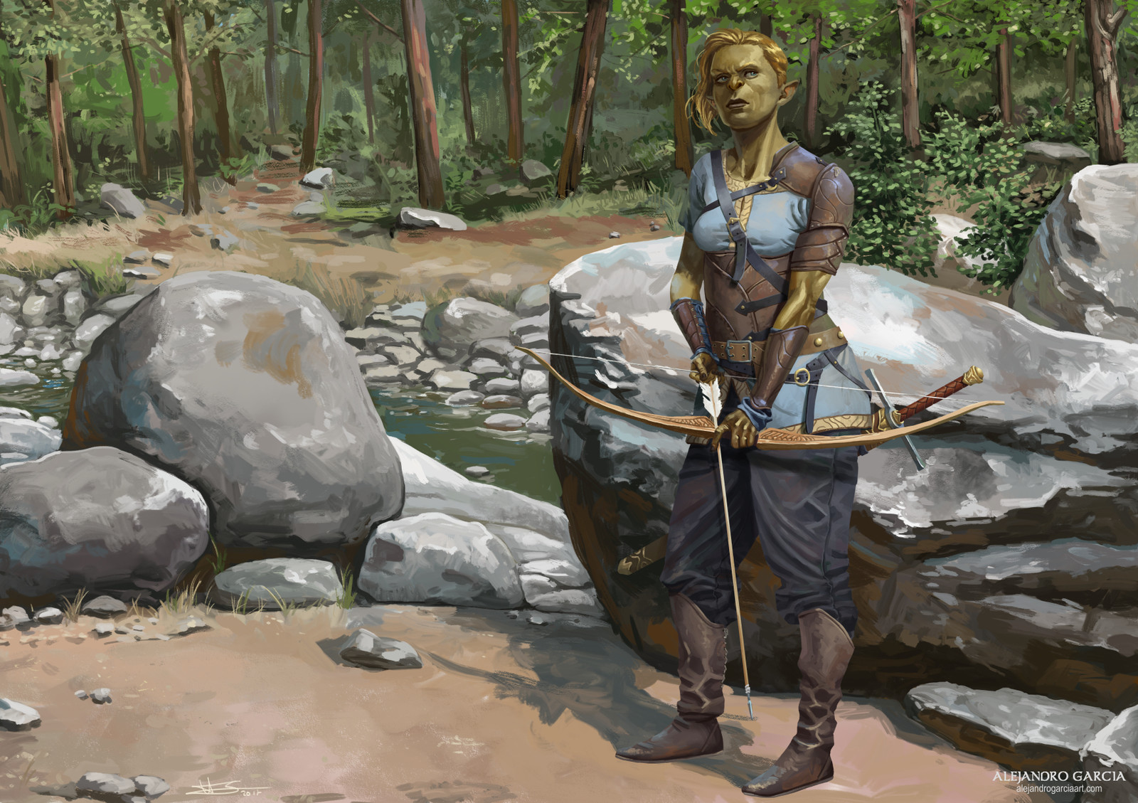 Ogre archer by the river