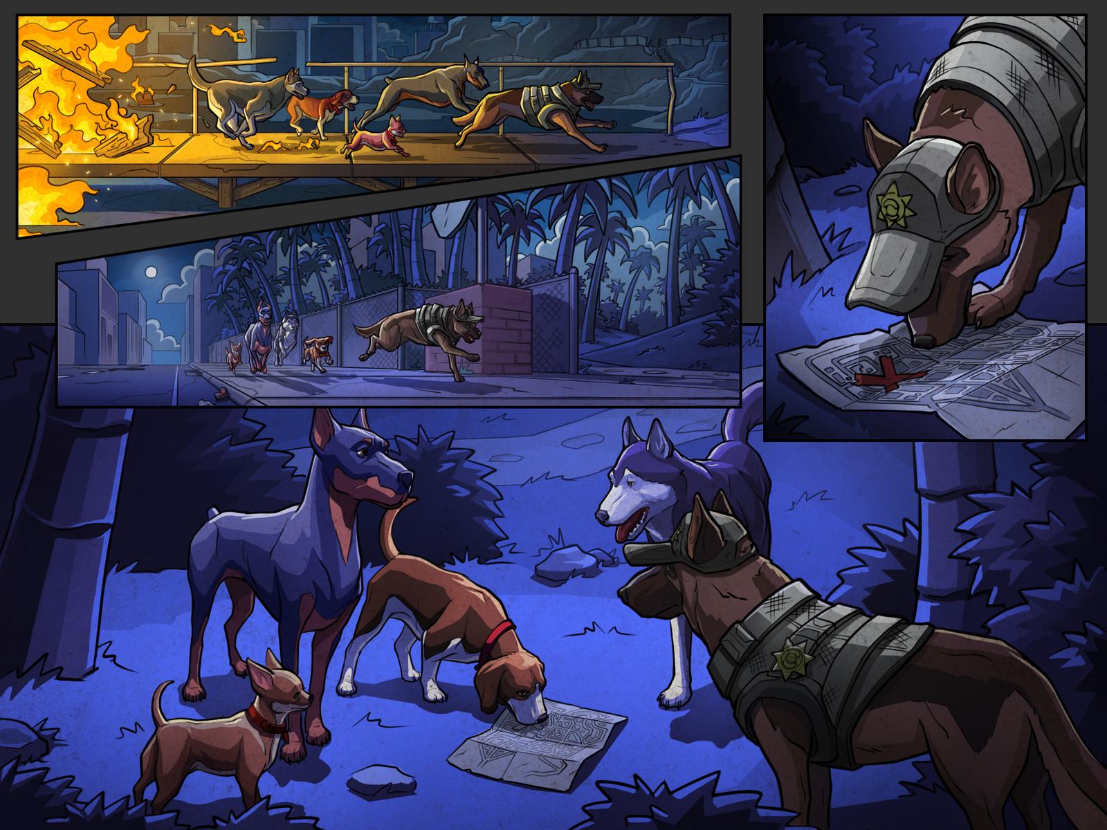 Get 'Em game cutscene comics Pg 8 Color  Behdad Sami Interactive © 2018