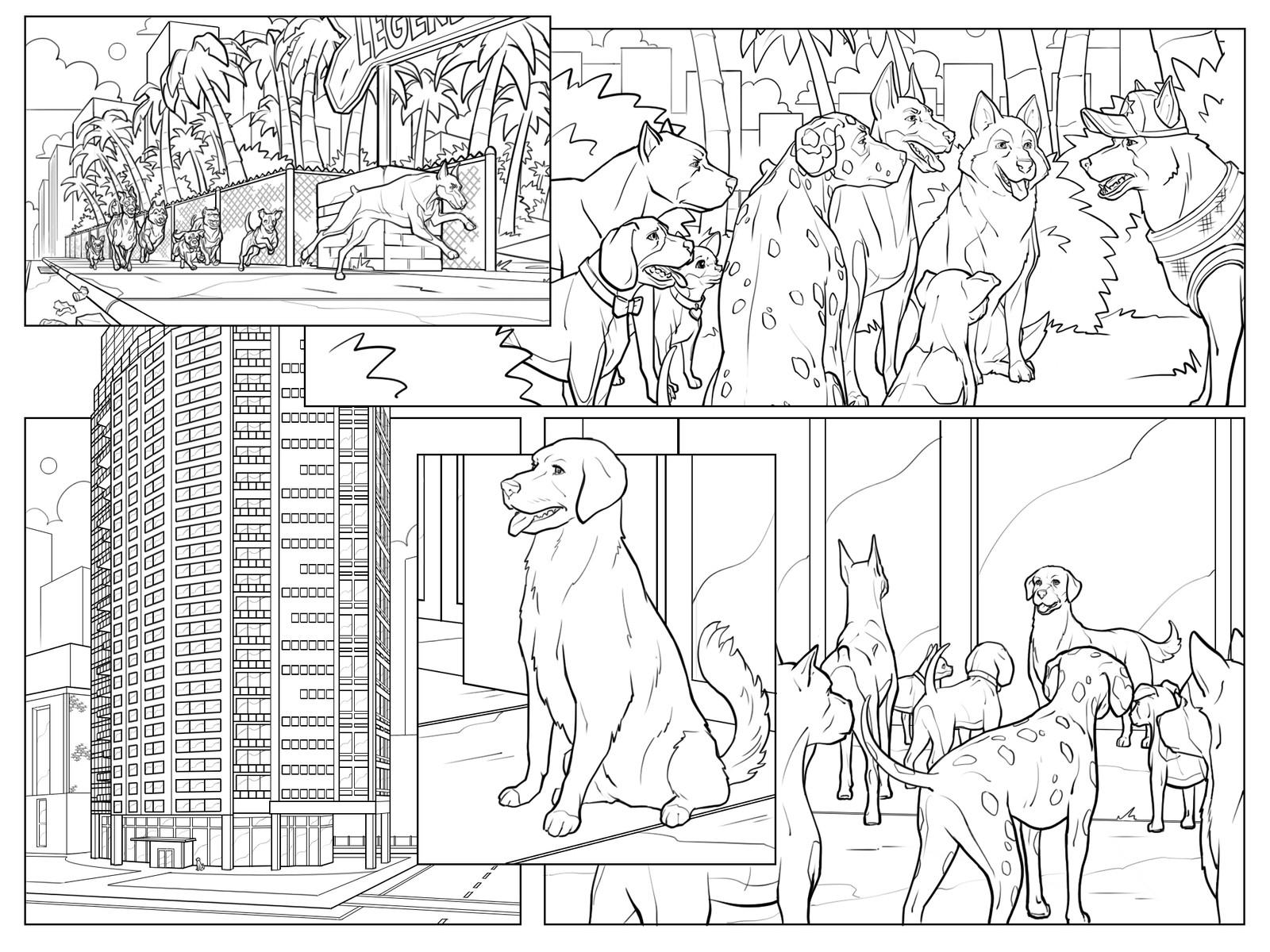 Get 'Em game cutscene comics Pg 15 Inks  Behdad Sami Interactive © 2018