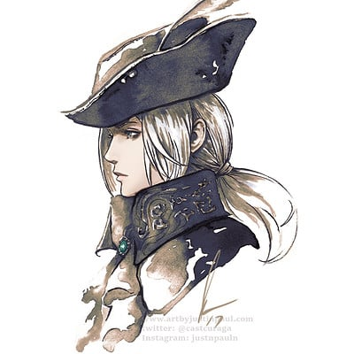 Justin paul lady maria ink color