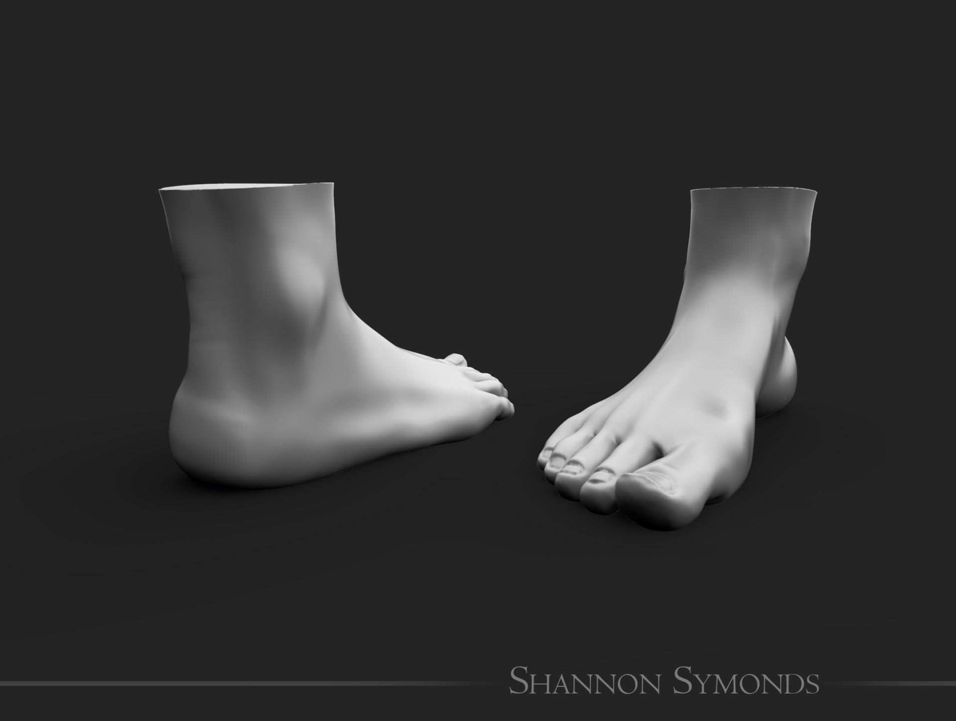 Shannon symonds foot unposed