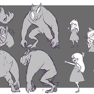 Ming en li ming storyboard characters