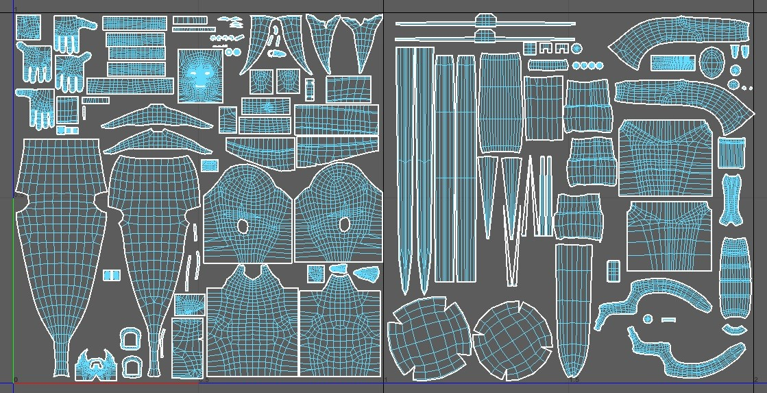 UVs of the project.