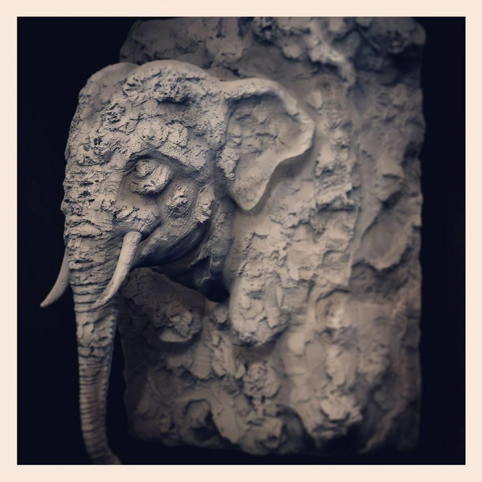 Surajit sen clay elephant sculpt surajitsen 25012018 l