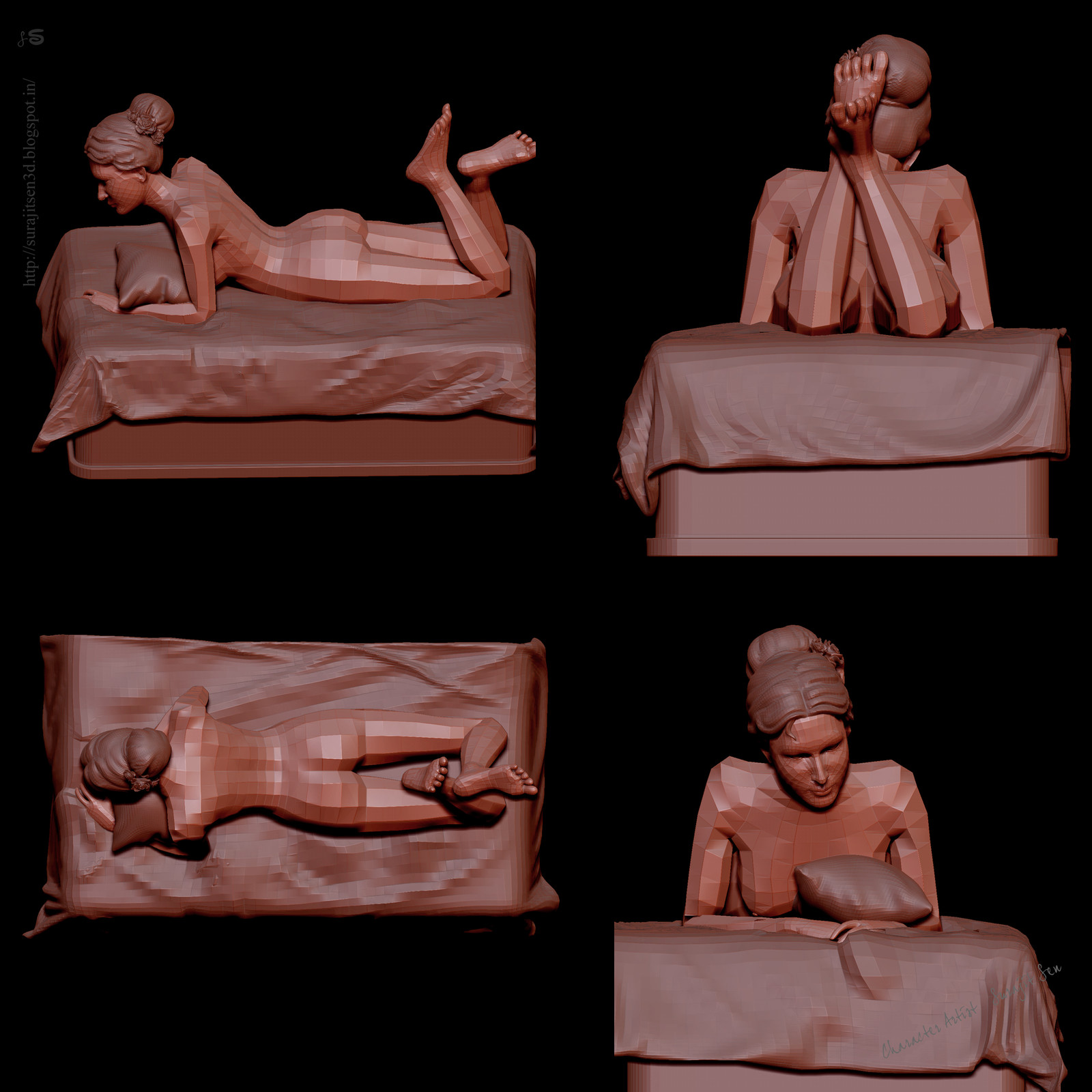 """Printscreen. My recent free time work ....Stone finish Female Sculpt.... """"Aphrodite - the mark of beauty"""". Wish to share  .....:)"""