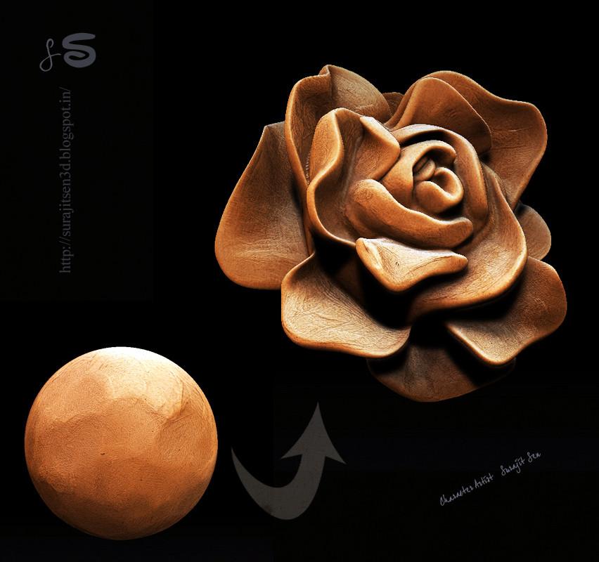 Surajit sen aphrodite flower sculpt by surajit sen 26012018