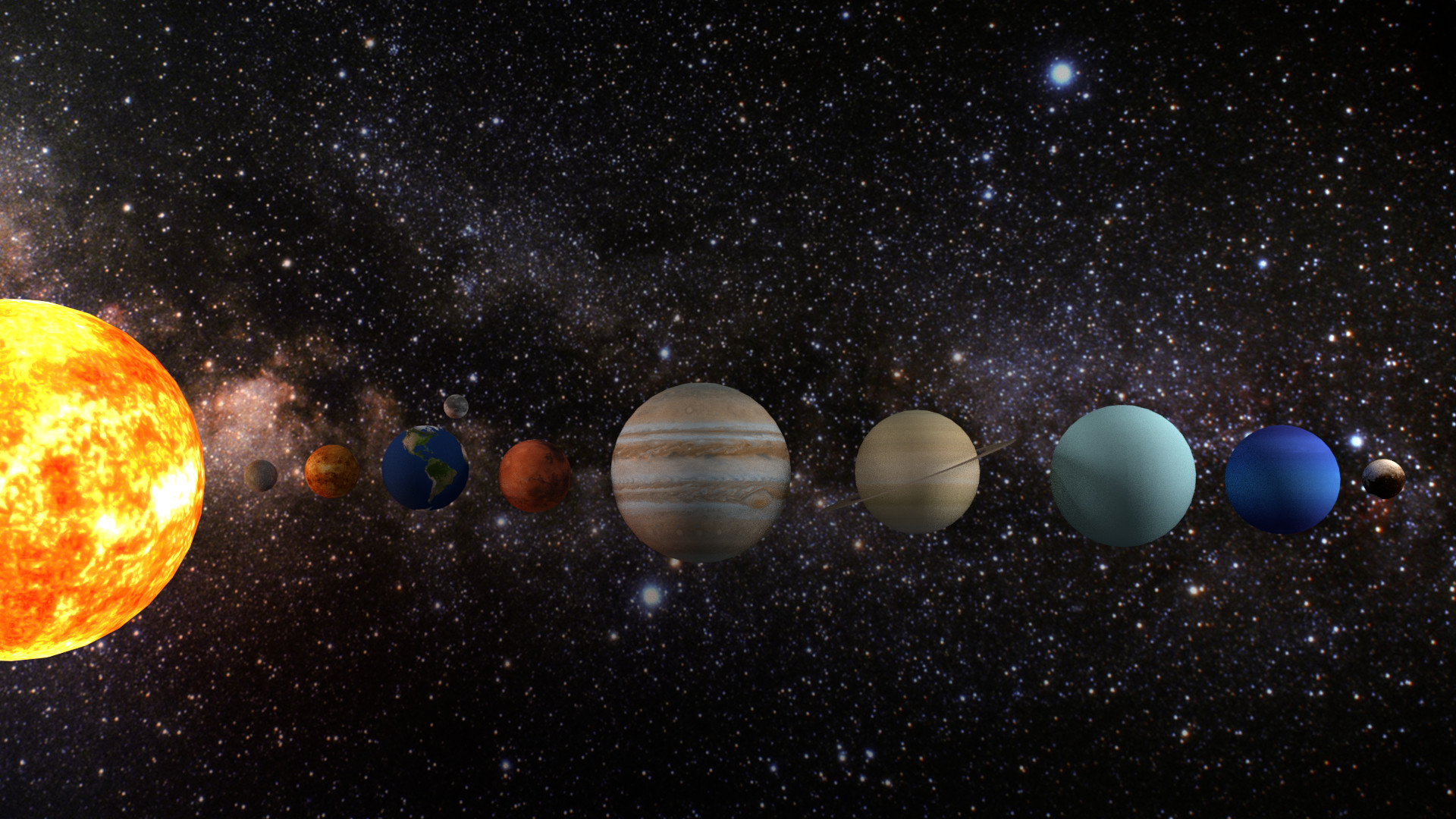 real pictures of the solar system - HD 1920×1080