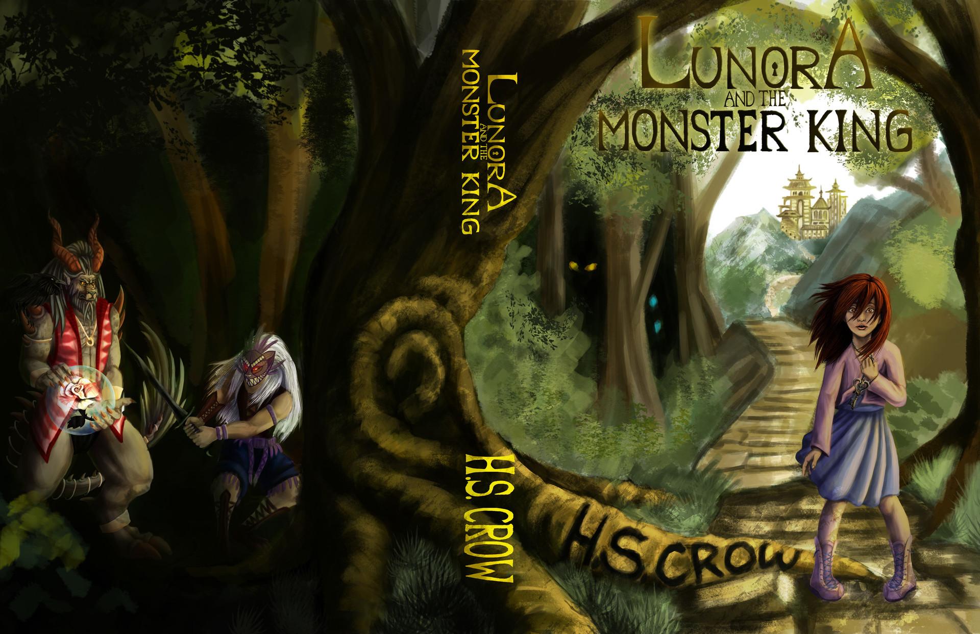 artstation lunora and the monster king book cover sierra ashe