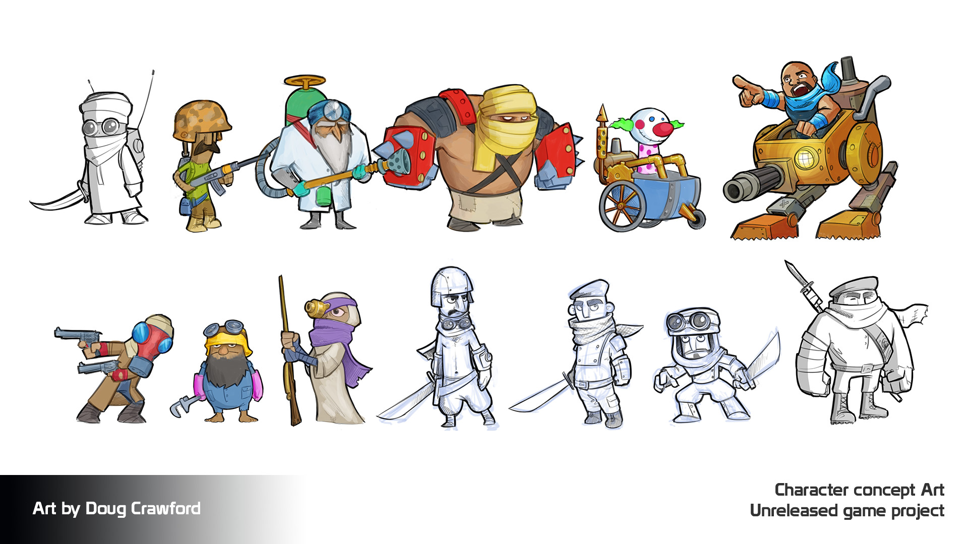 Gaming Character Concept Art