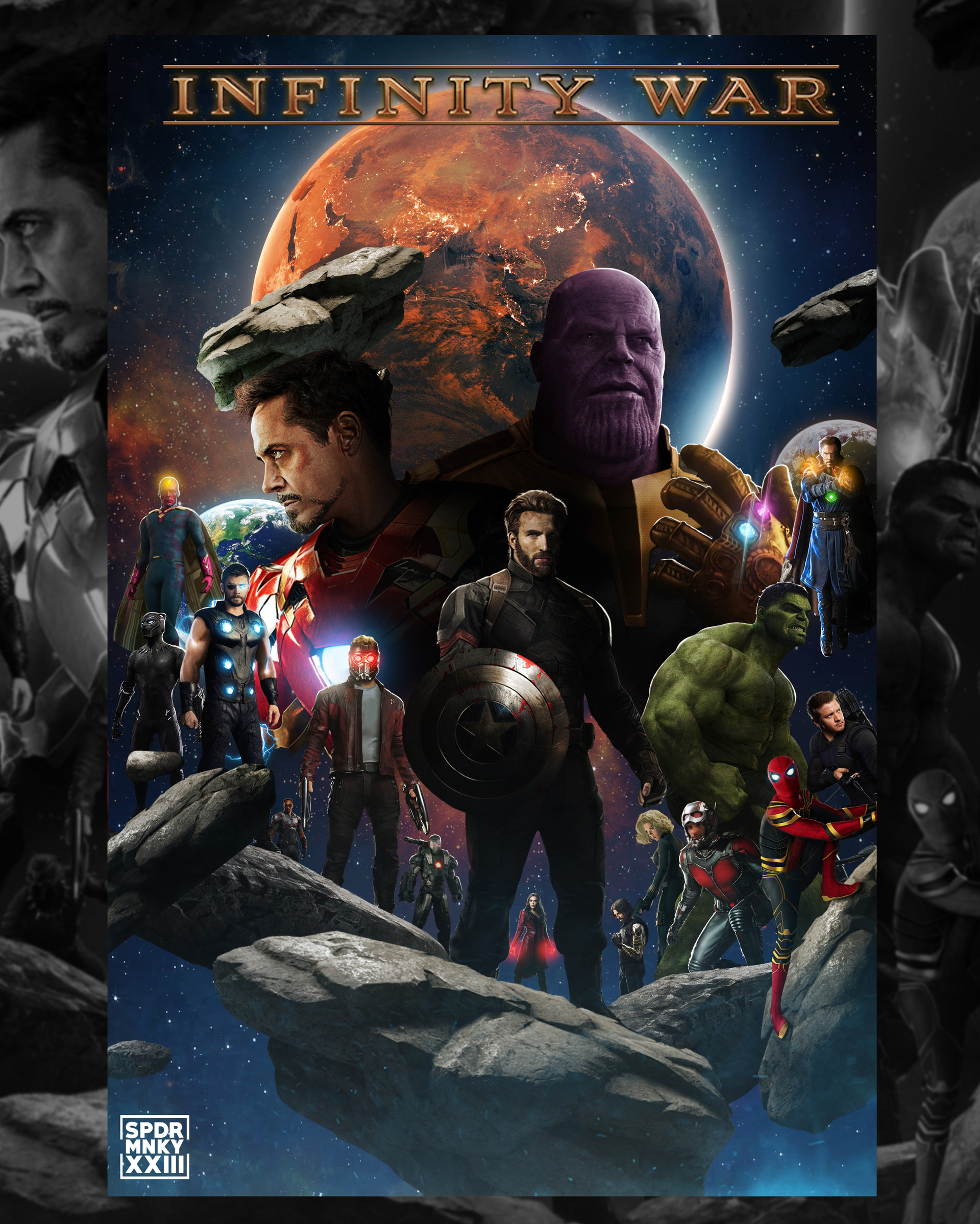 Artstation Avengers Infinity War Poster Spdrmnky Xxiii