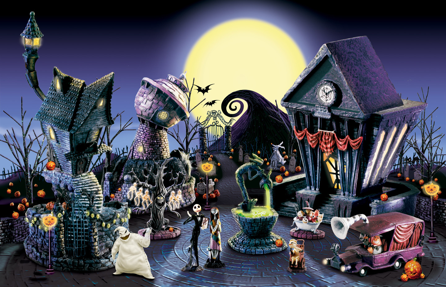 ArtStation - Nightmare Before Christmas Village, Joe Viego