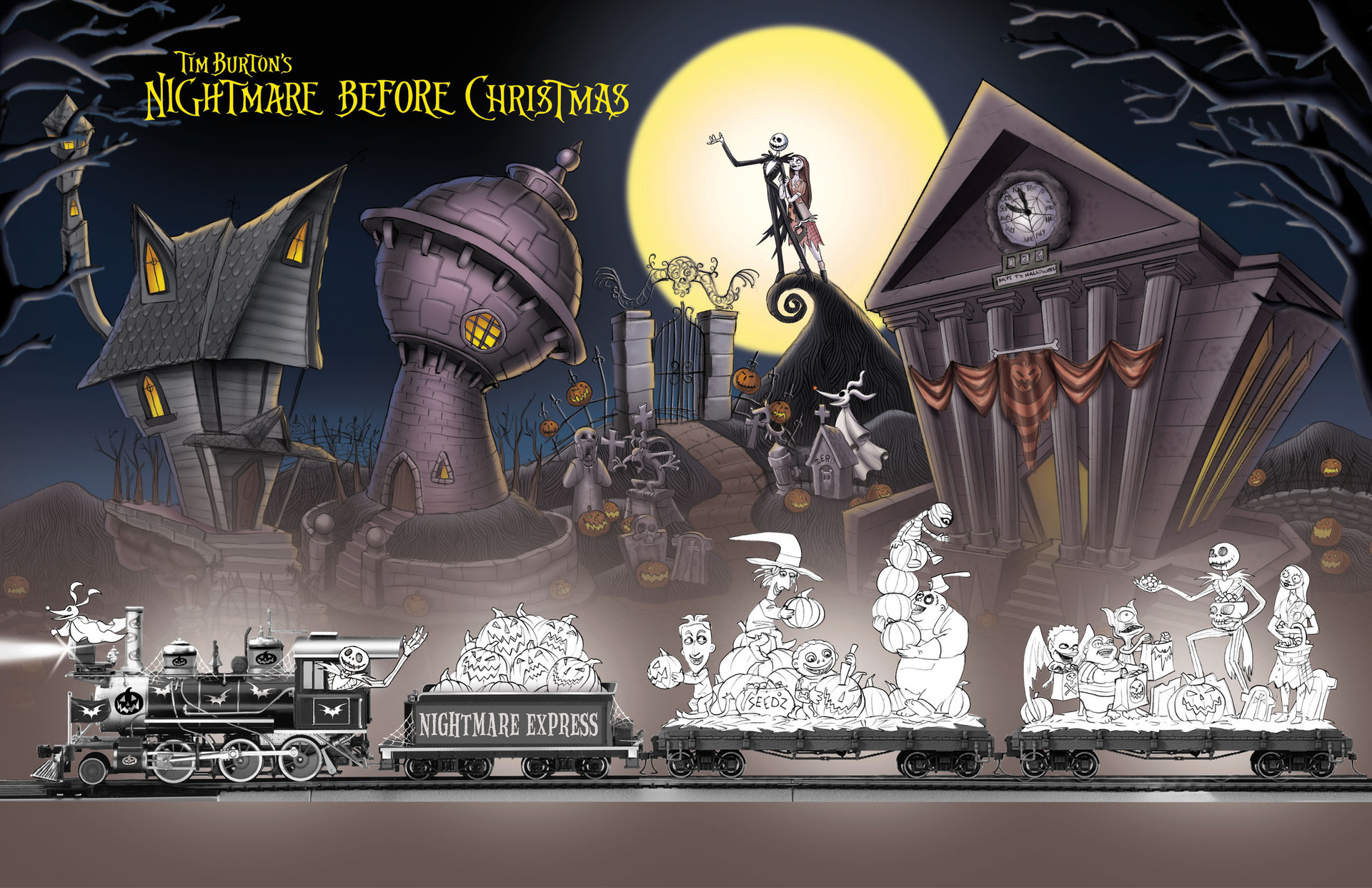 ArtStation - Nightmare Before Christmas Electric Train, Joe Viego