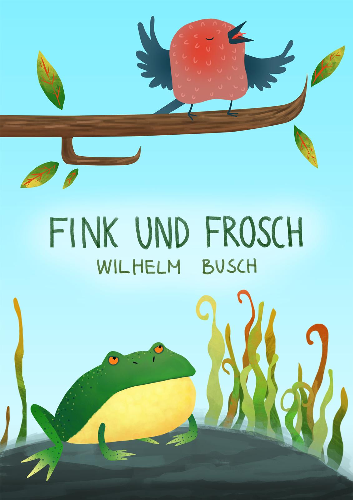 wilhelm busch fink und frosch