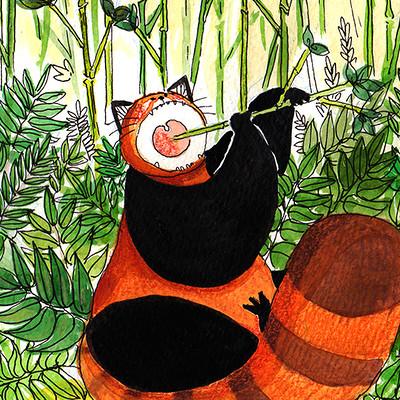 Panda roux vorace