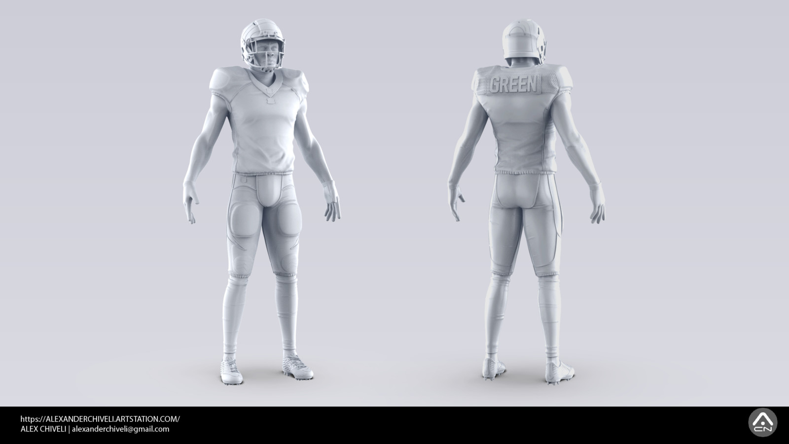 NFL Player High res Model