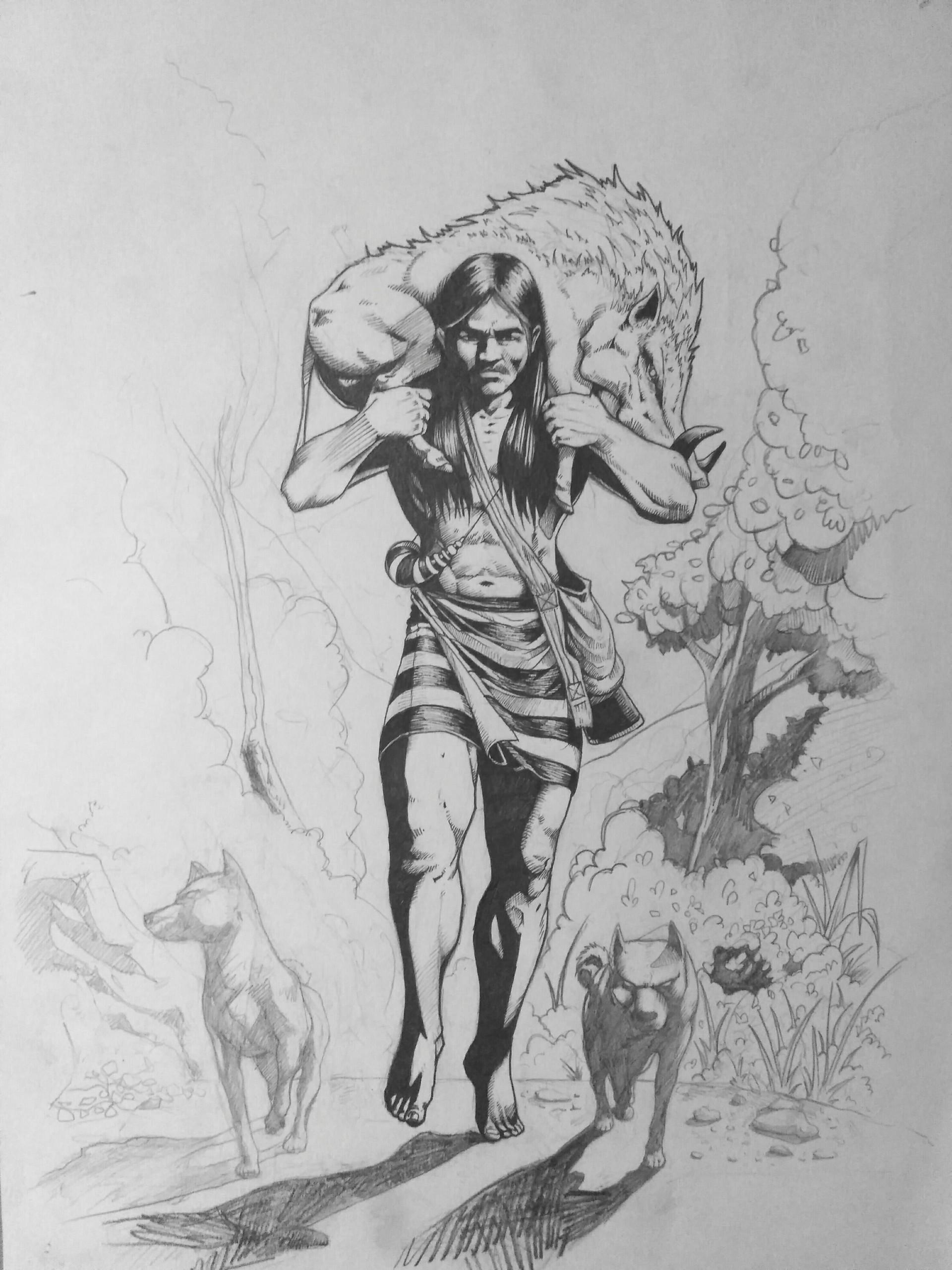 C m s dawngliana youngbully concept character of mizo pasaltha mizo warrior