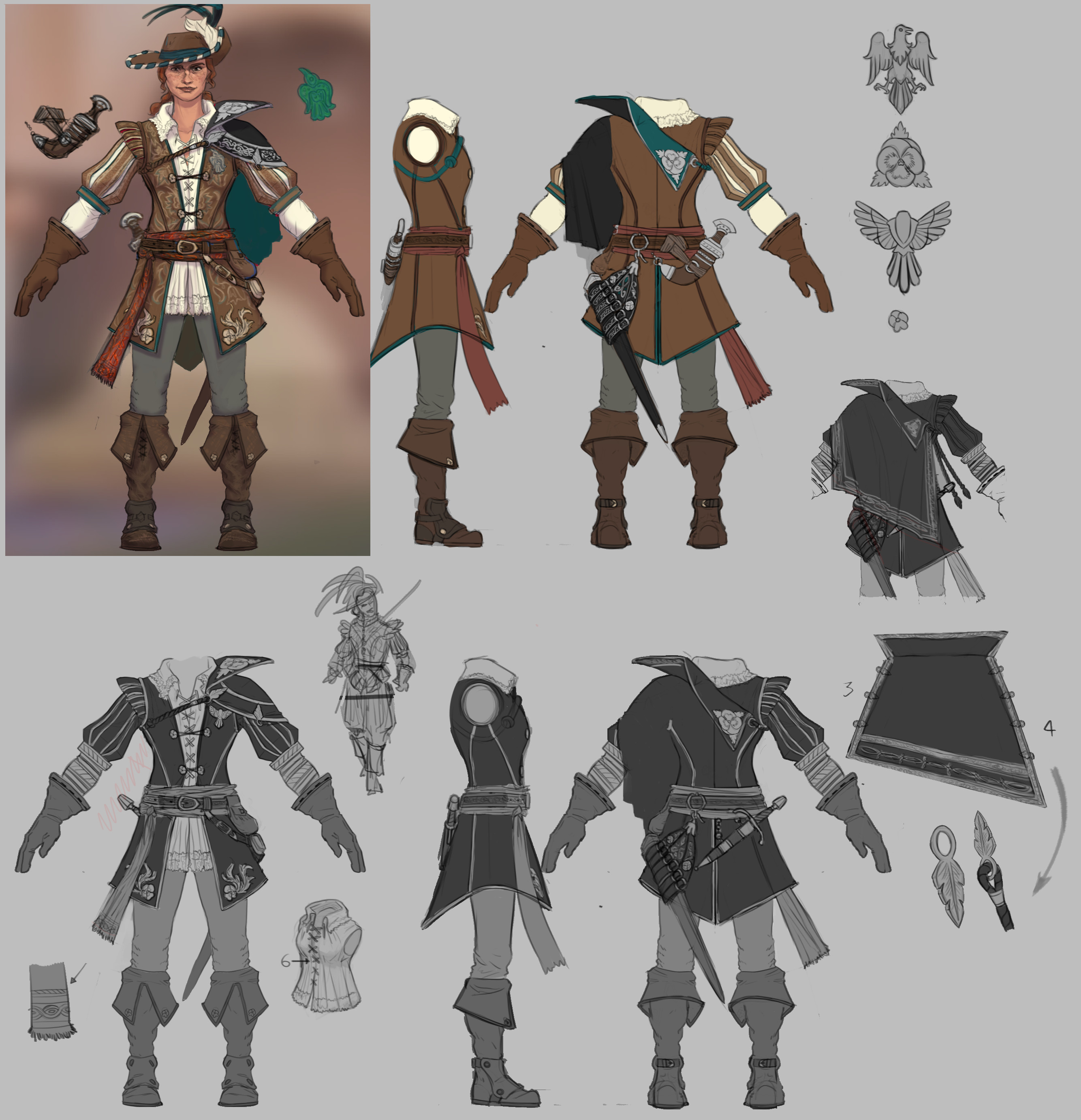 New costume turnaround and color change.