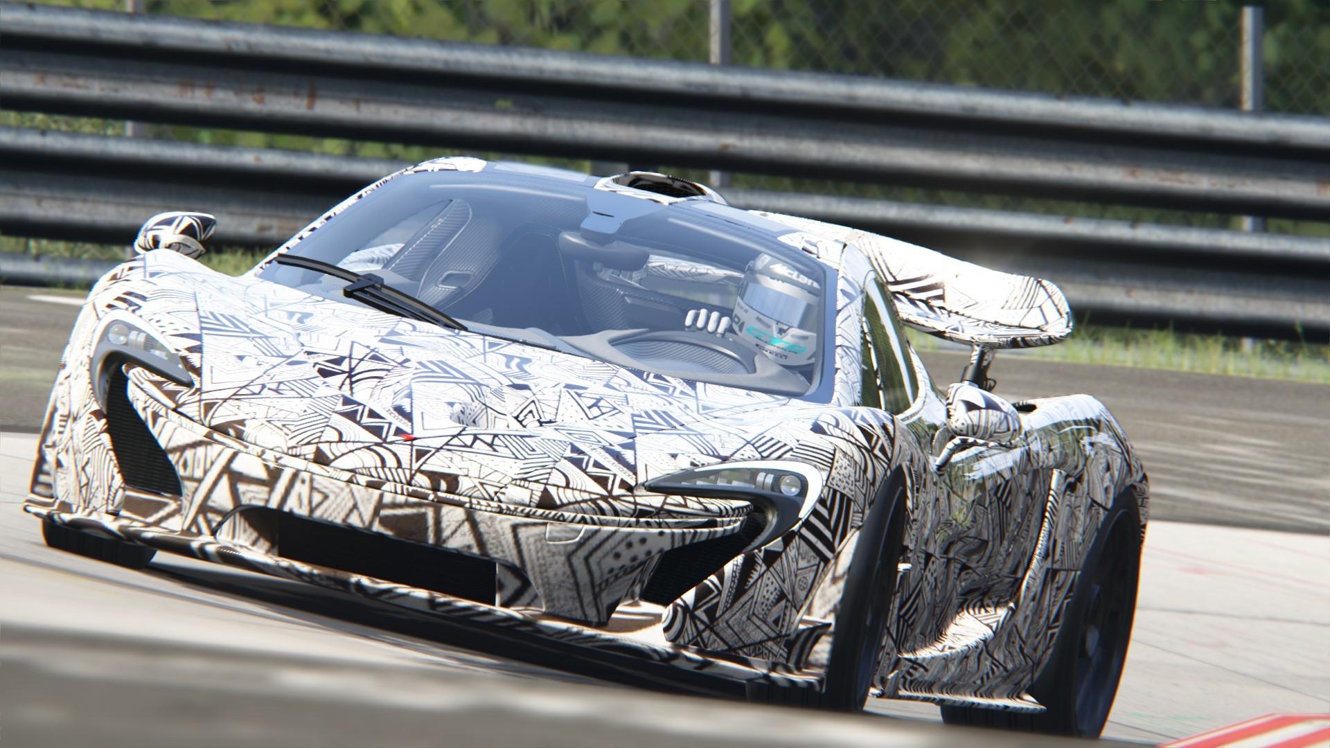 saharat ounaim - mclaren p1 spy shot at nürburgring
