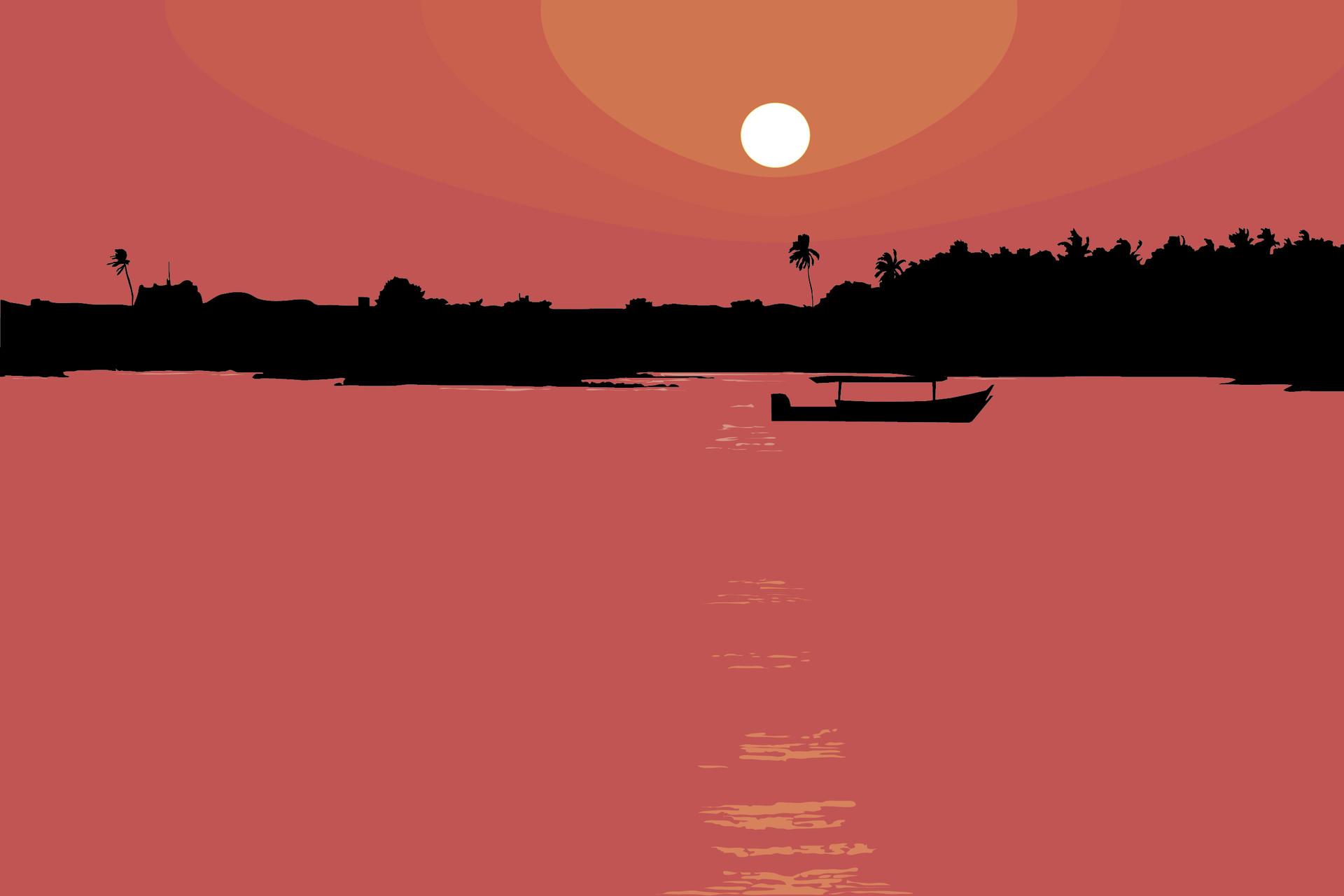 Rajesh r sawant sun set 12 x 18 01