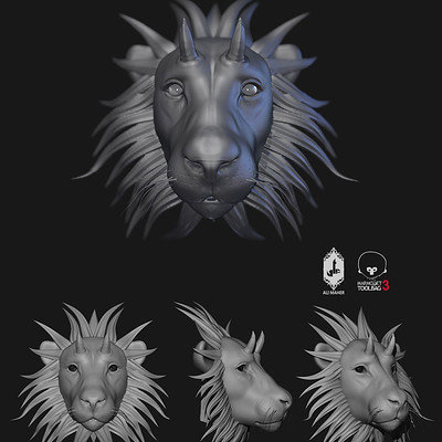 Ali maher all lion zbrush