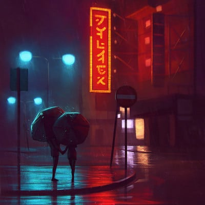 Angel ganev angelganev rainy nights 1