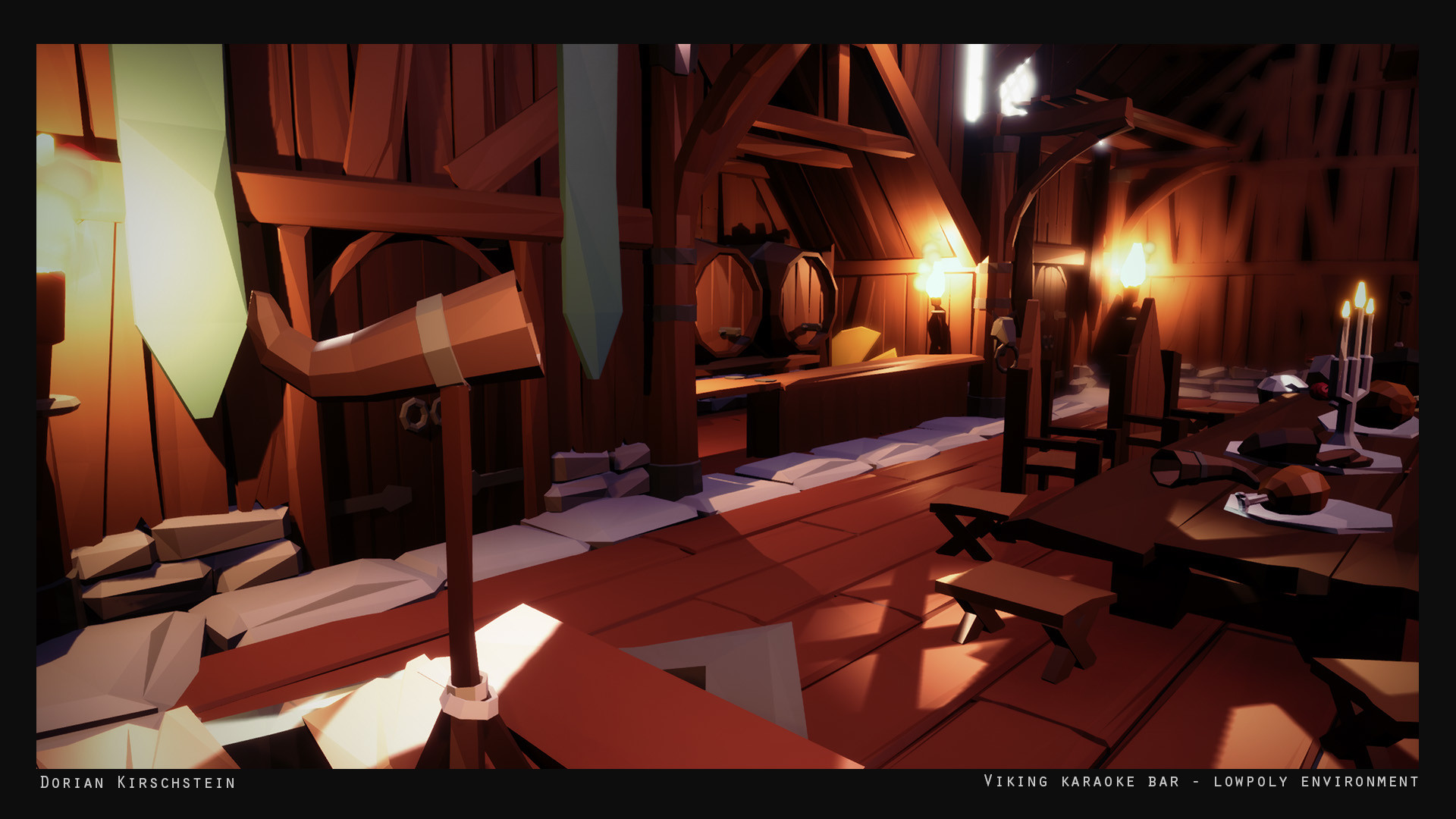 ArtStation - Viking Karaoke Bar Lowpoly Environment, Dorian