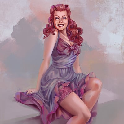 Rockabilly Pin-up Model