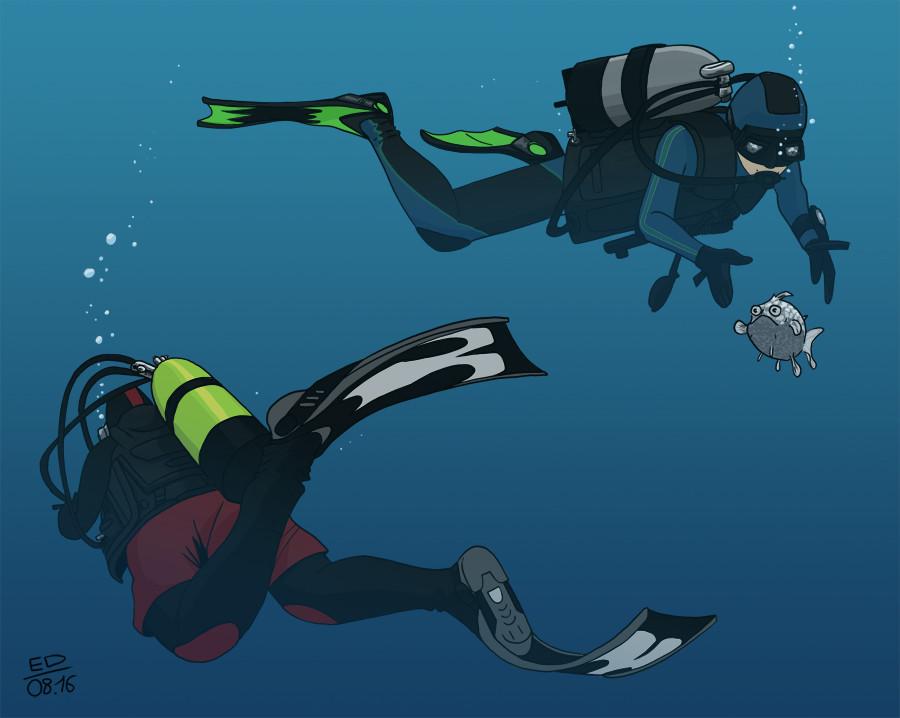 Edouard duhem plongeurs 900