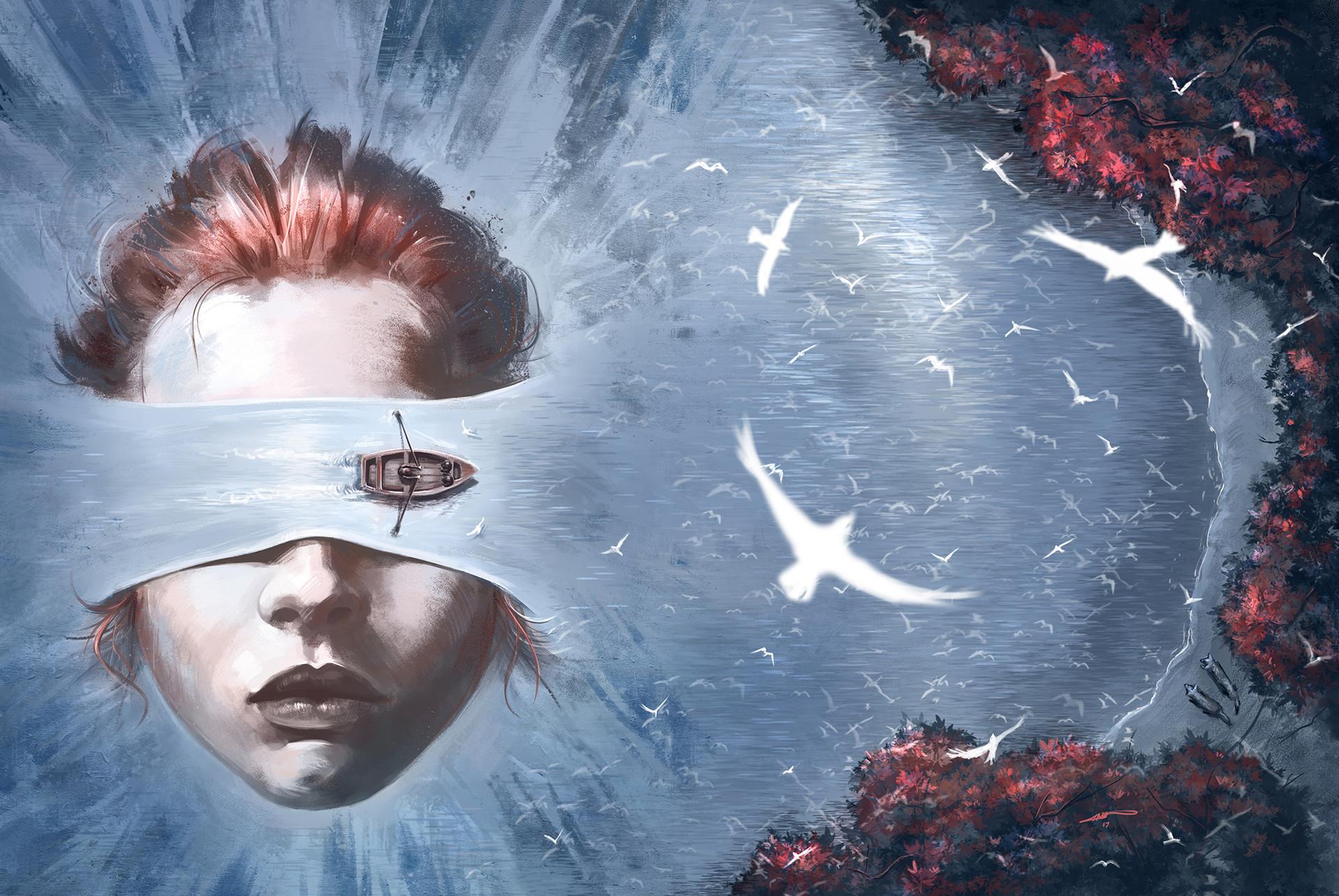 Artstation Bird Box Book Cover Illustration Amin Talebi