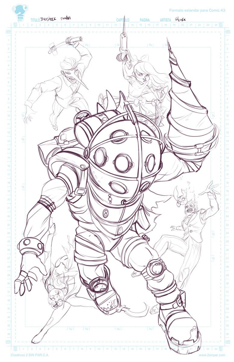 Initial rough sketch.