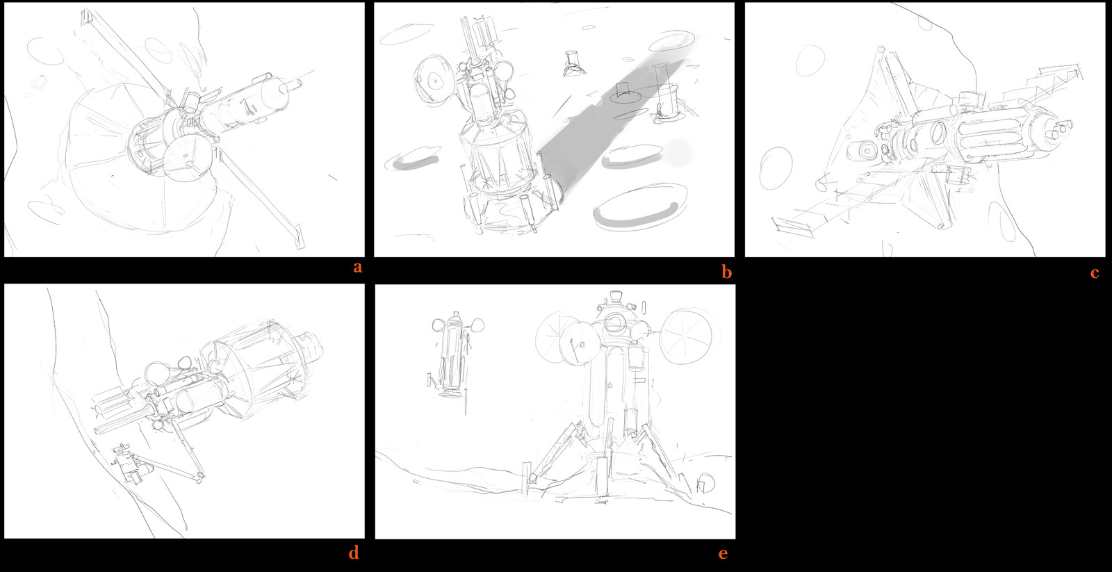 Preliminary sketches for the peice