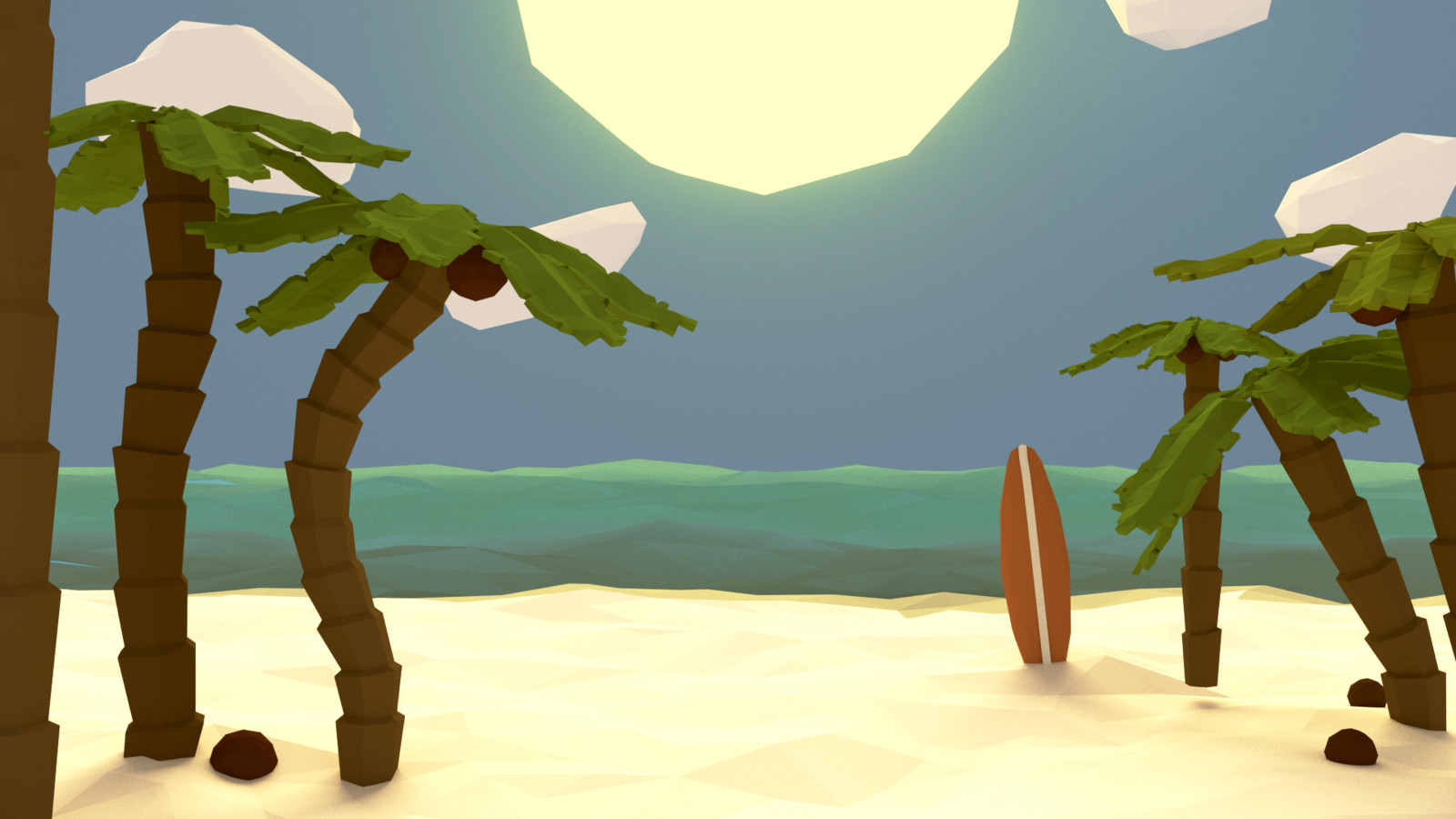 A nice little low poly beach.
