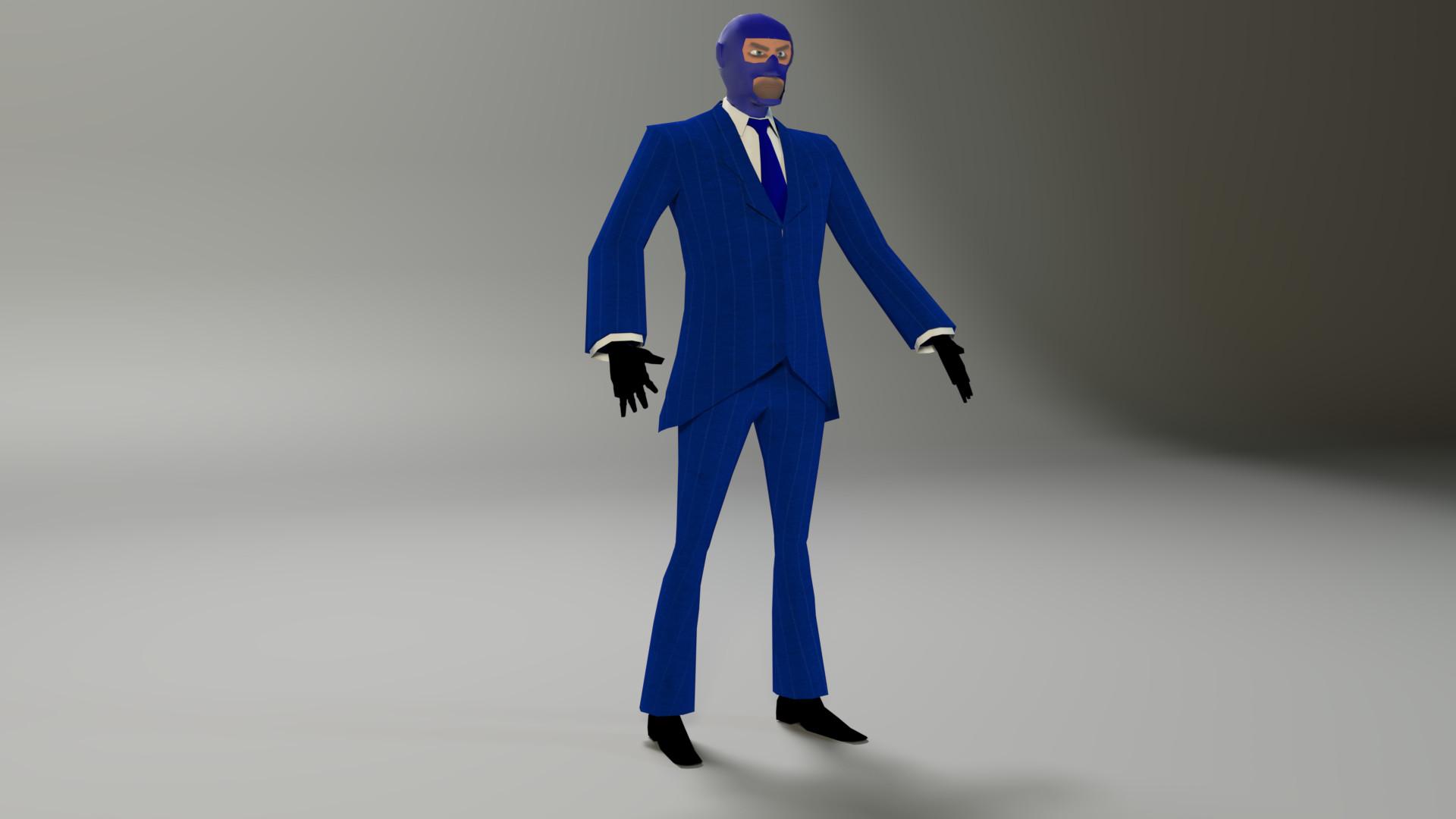 Artstation Team Fortress 2 Spy Low Poly Ben Scrivener