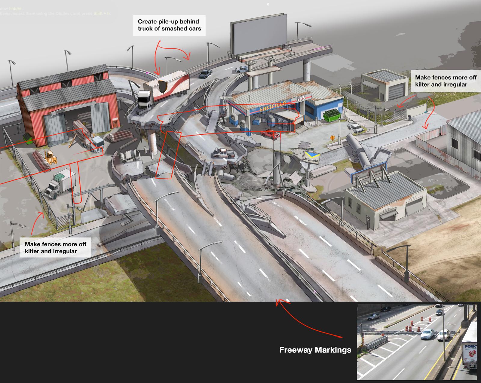 Level design layout