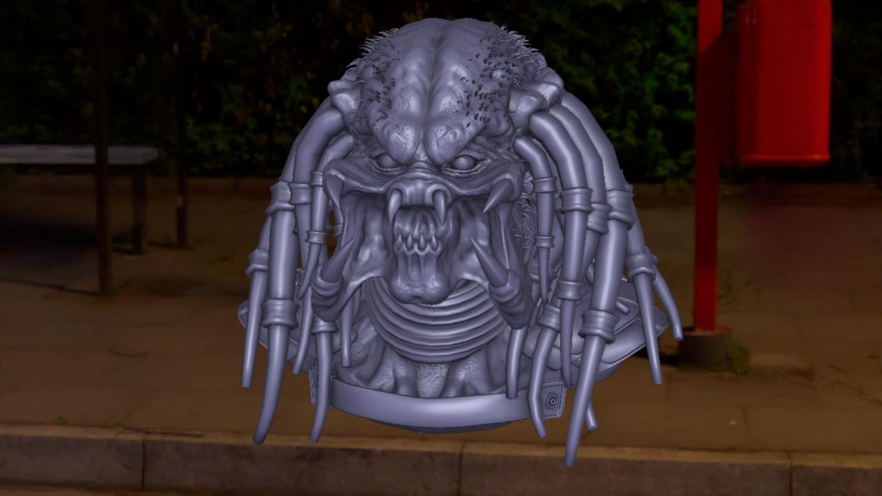 Daniel f r gordillo predator final sculpt 3 clay