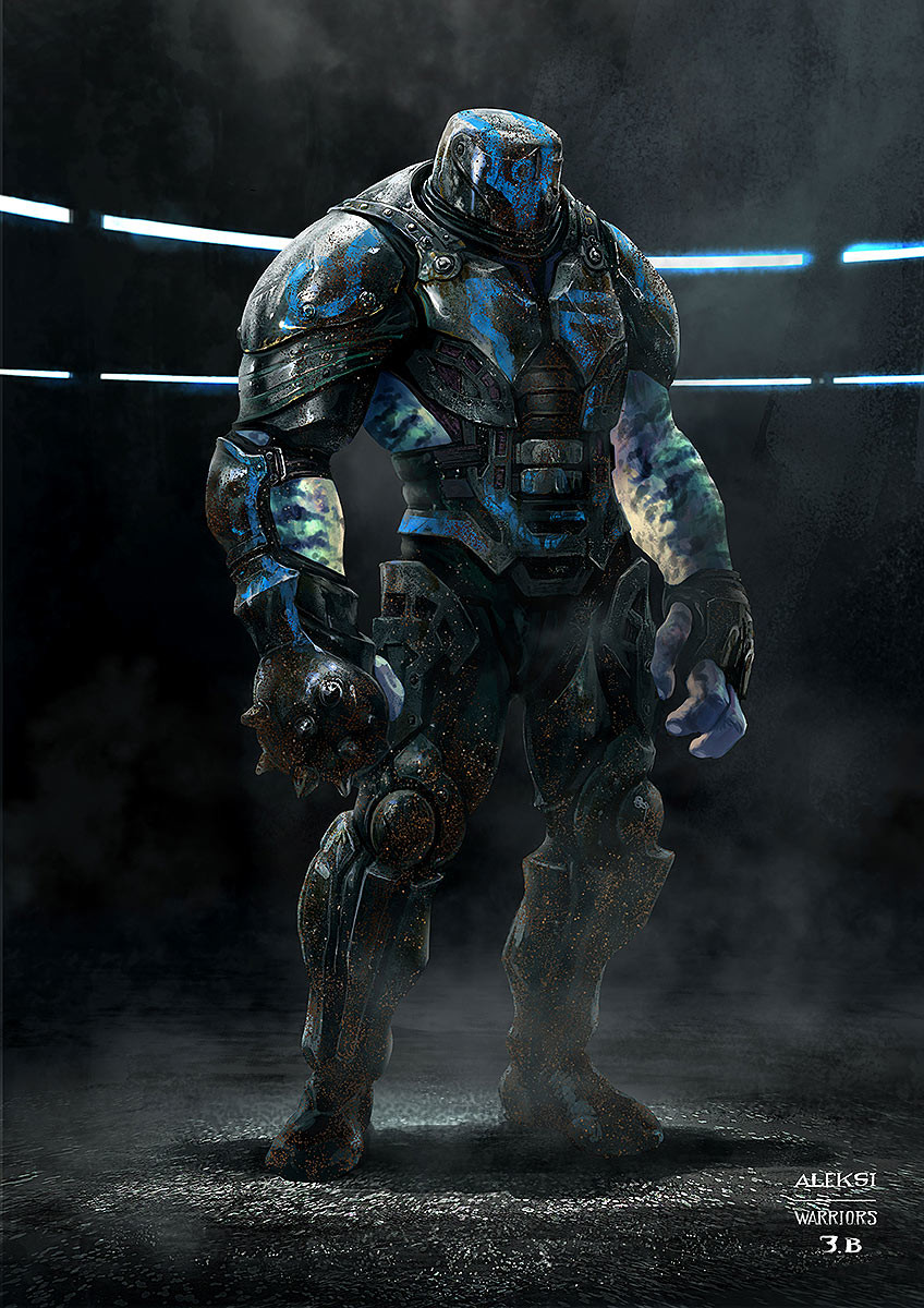 Part of Korg team. I dealed with Kirby references that director #taikawaititi wanted to put in the movie. So that's partly why this shapes and those blue patterns. It finally ended looking like some kind of gladiator mixed with a spray can.