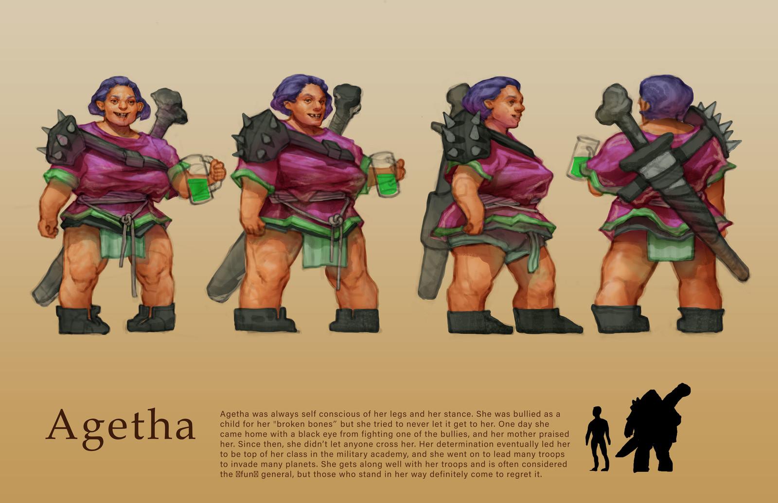 Agetha Character Turnaround