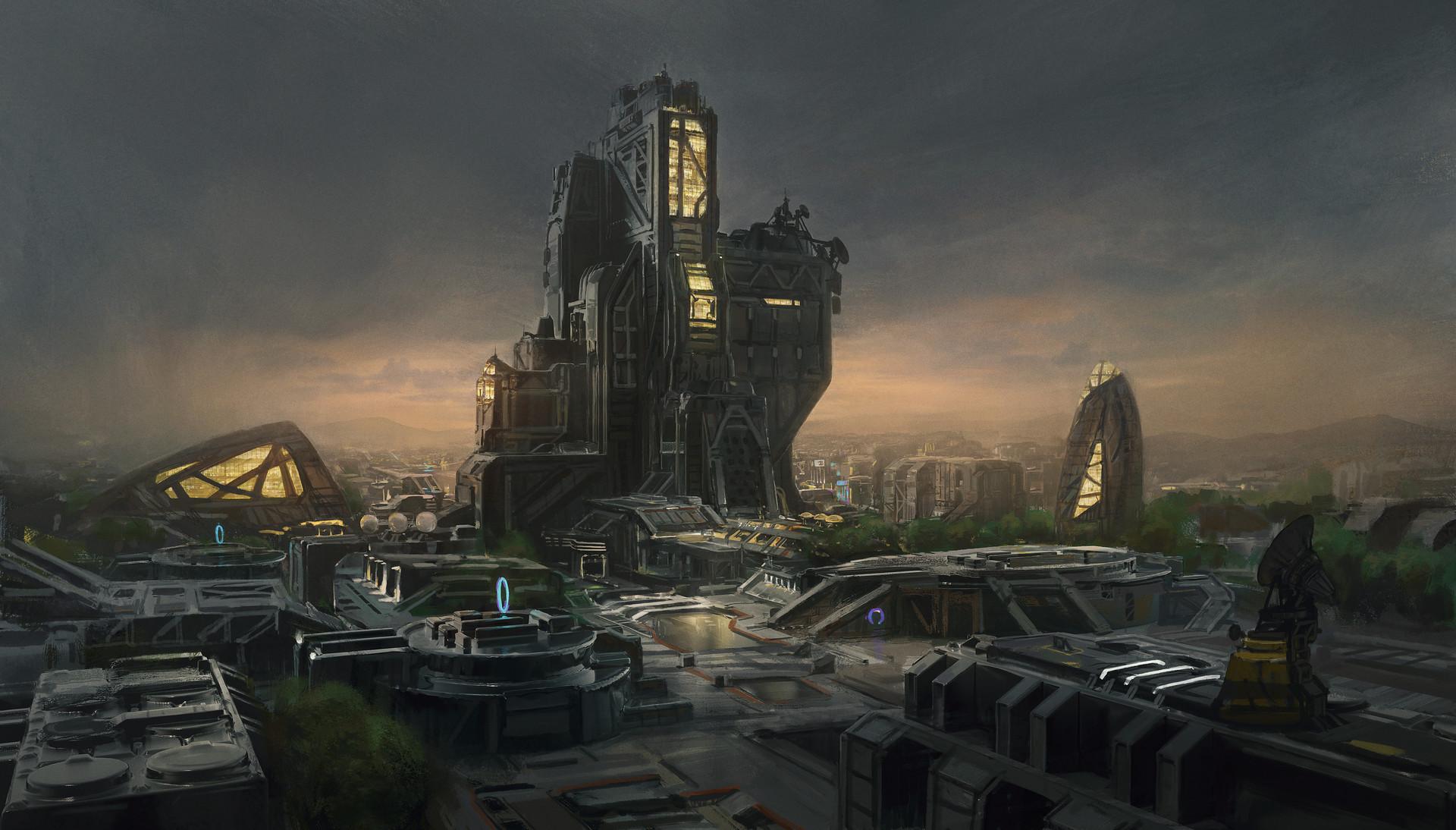Kevin jick sci fi city 01a
