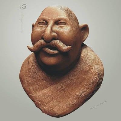 Surajit sen clay human hex sculpt surajitsen 01022018 ef