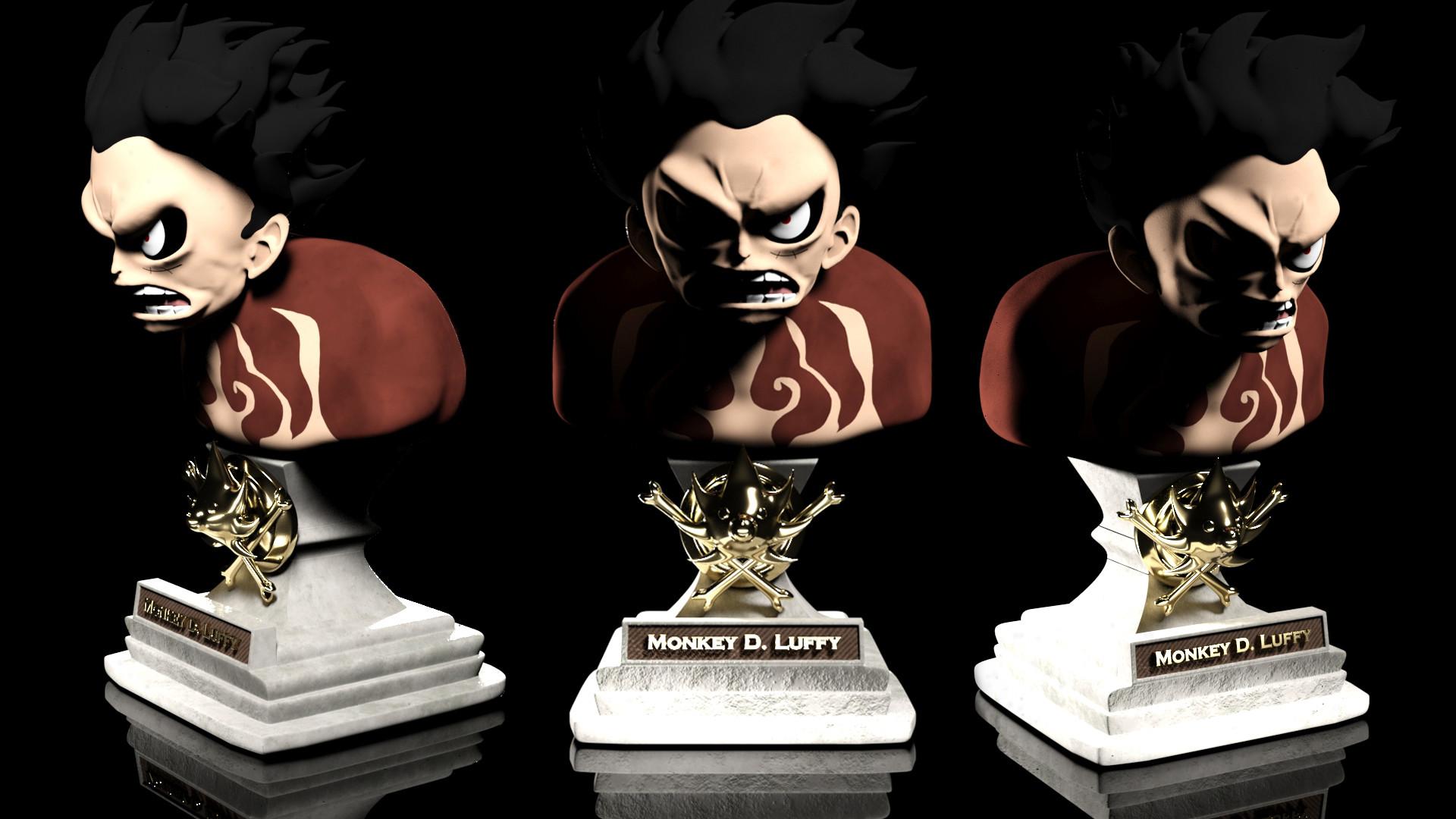 Artstation Monkey D Luffy Gear Fourth Sculpture Diego