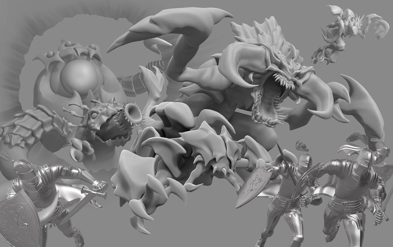 3D Base Sculpts to Paint Over