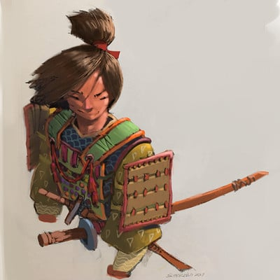 iPhone Painting: Young Samurai