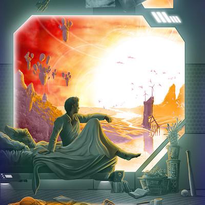 Genkis genkkis sci fi sunrise by genkkis