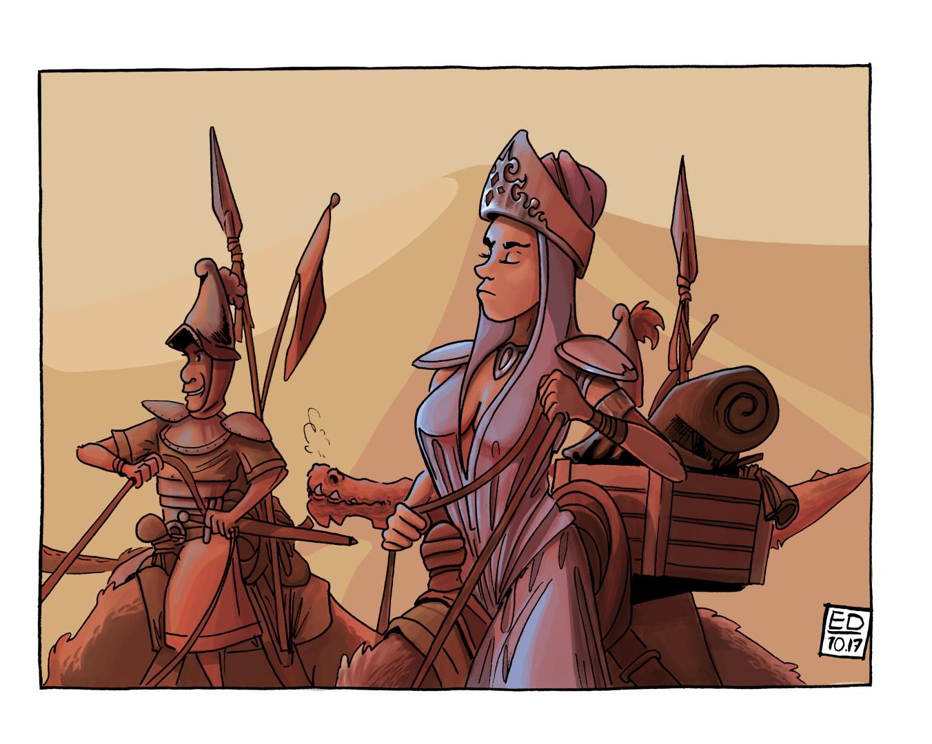 Edouard duhem queen in desert