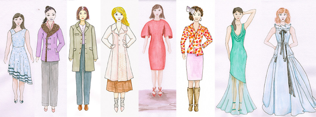 Meris mullaley fashion illustration lineup