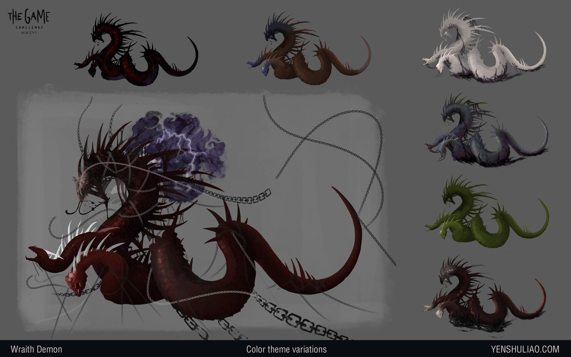 Yen shu liao demon dragon creature concept art03