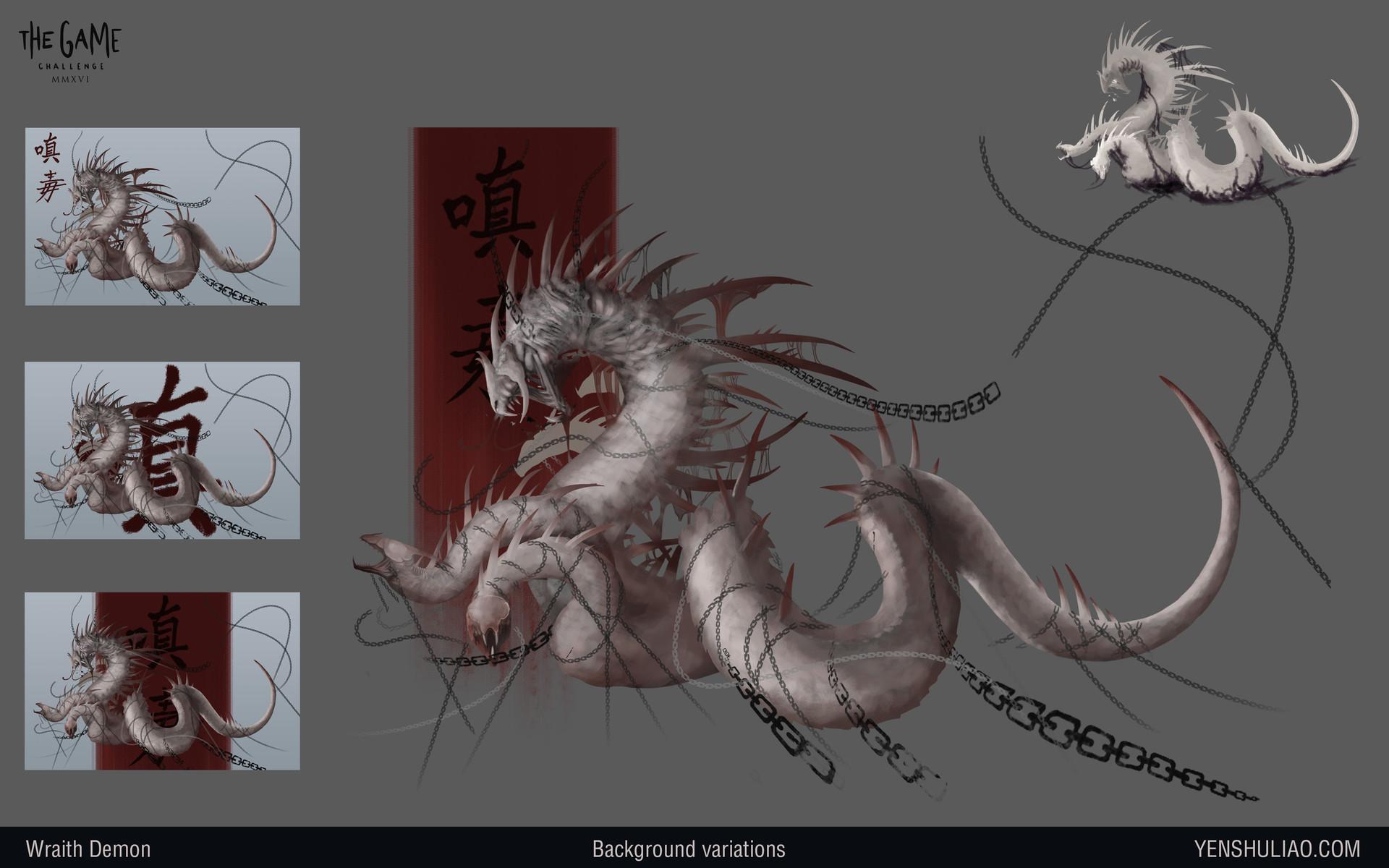 Yen shu liao demon dragon creature concept art04