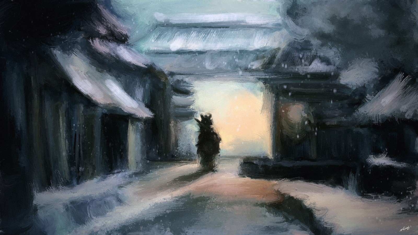 Winter Pilgrimage - speedpaint