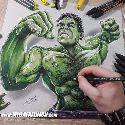 Mihai alin ion drawing incredible hulk mihai alin ion post