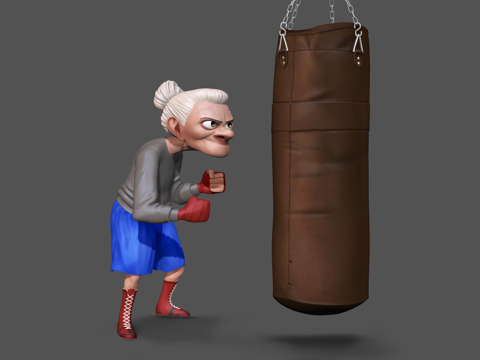 Granny Boxing